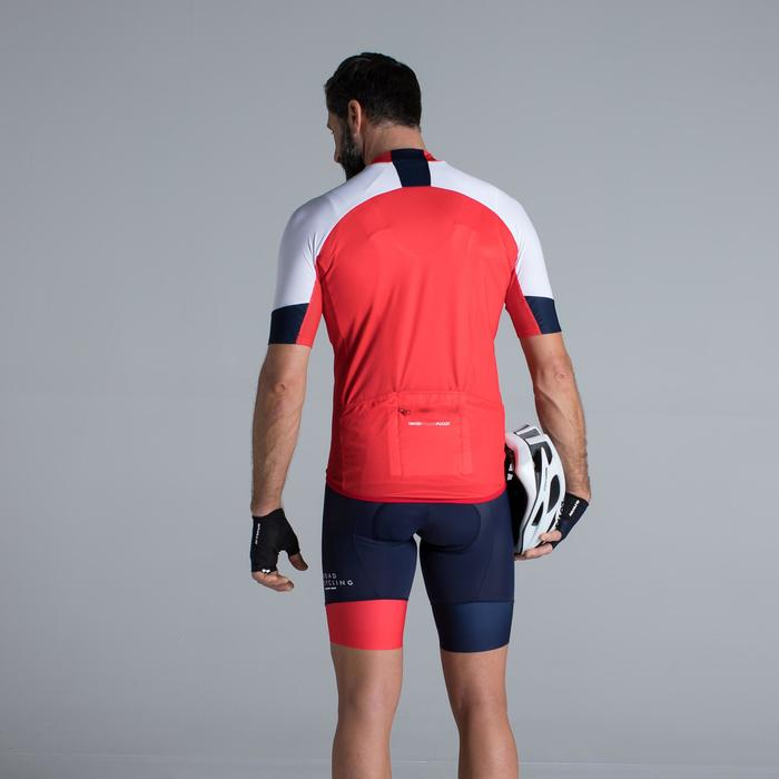 MAILLOT VELO ROUTE MANCHES COURTES HOMME ROADCYCLING 900  XRED NAVY - 1319742