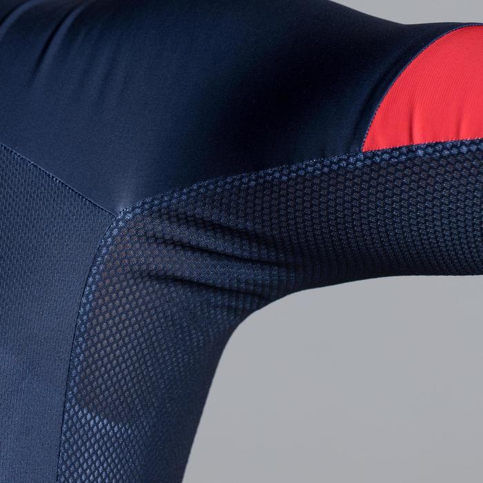 Kurzarm-Radtrikot Rennrad 900 Herren blau/rot