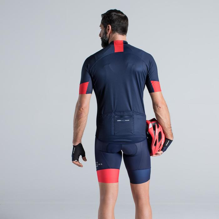 MAILLOT VELO ROUTE MANCHES COURTES HOMME ROADCYCLING 900  XRED NAVY - 1319752