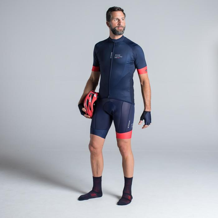 MAILLOT VELO ROUTE MANCHES COURTES HOMME ROADCYCLING 900  XRED NAVY - 1319774