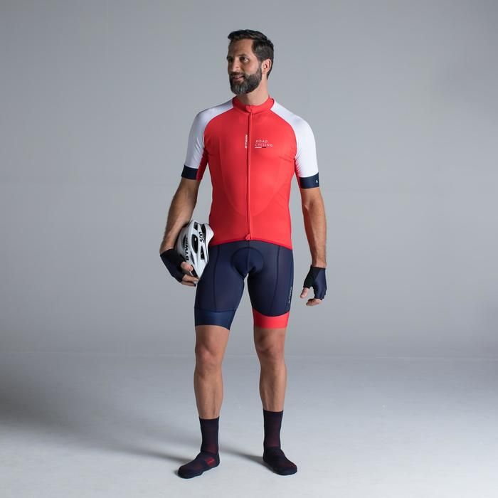 MAILLOT VELO ROUTE MANCHES COURTES HOMME ROADCYCLING 900  XRED NAVY - 1319779
