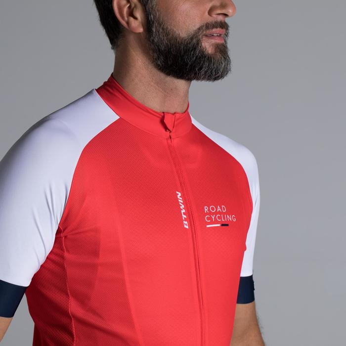 MAILLOT VELO ROUTE MANCHES COURTES HOMME ROADCYCLING 900  XRED NAVY - 1319788