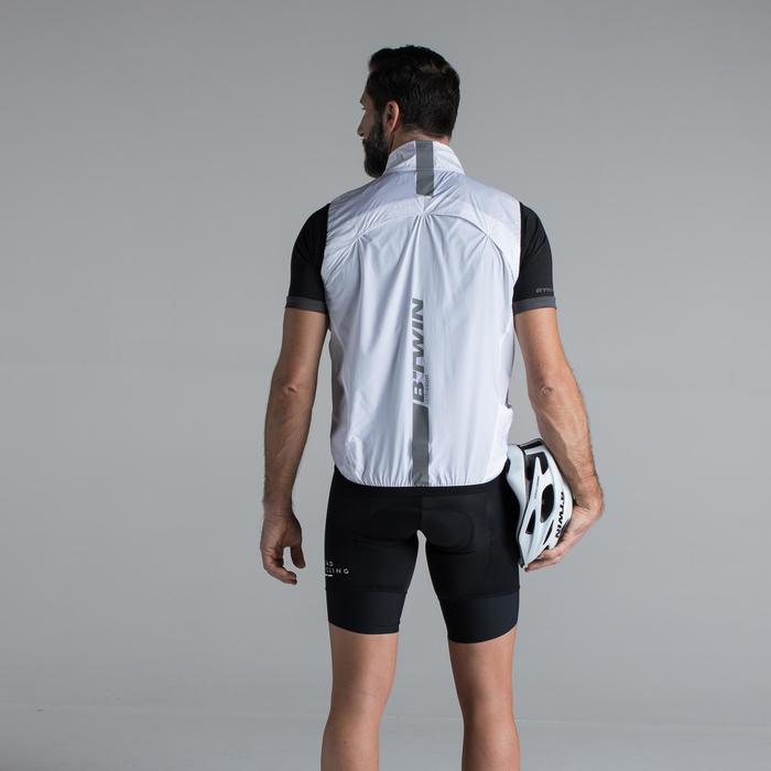 Fahrrad-Weste Rennrad 500 Ultralight Herren weiß