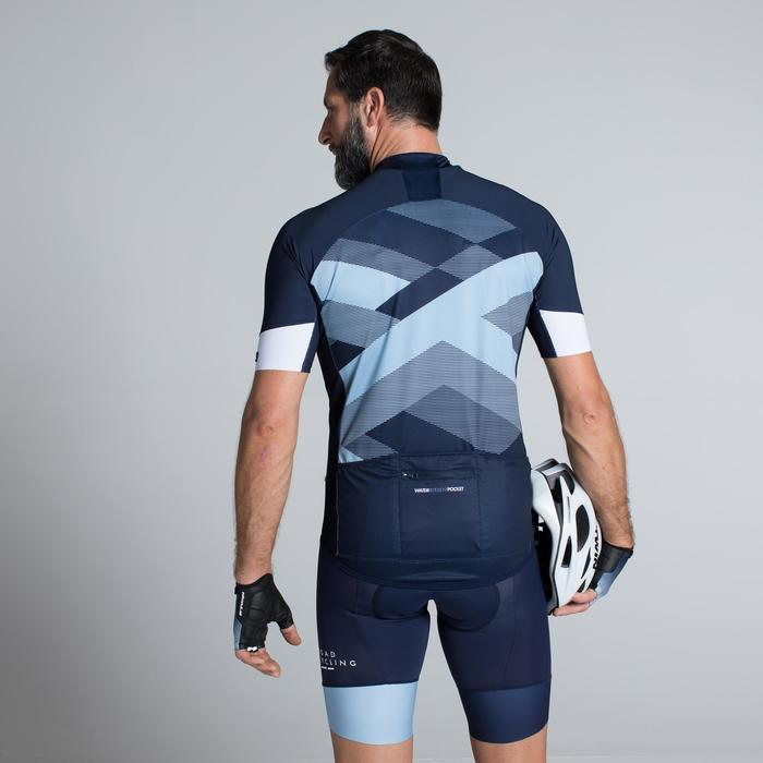 MAILLOT VELO ROUTE MANCHES COURTES HOMME ROADCYCLING 900  XRED NAVY - 1319791