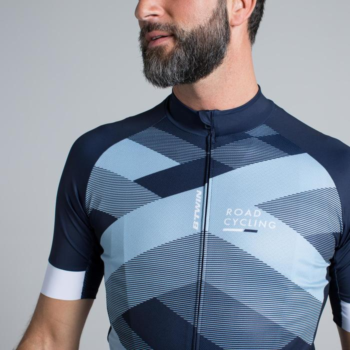 MAILLOT VELO ROUTE MANCHES COURTES HOMME ROADCYCLING 900  XRED NAVY - 1319793