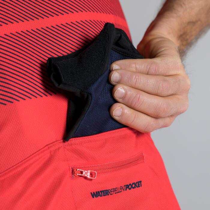 Kurzarm-Radtrikot Rennrad 900 Herren marineblau/rot
