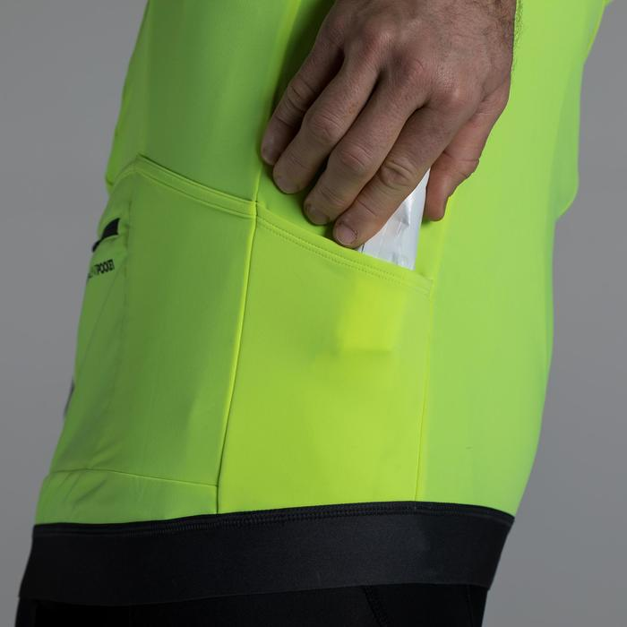 MAILLOT VELO ROUTE MANCHES LONGUES HOMME CYCLOTOURISTE 900 JAUNE FLUO