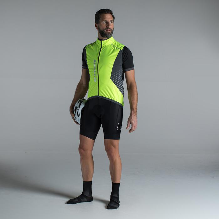 CHALECO CICLISMO IMPERMEABLE ROADR 520 AMARILLO