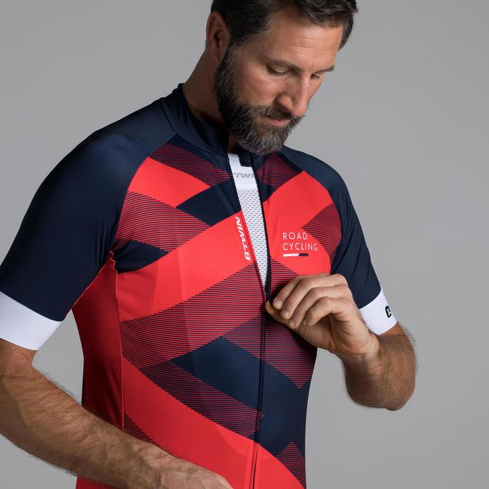 MAILLOT VELO ROUTE MANCHES COURTES HOMME ROADCYCLING 900  XRED NAVY - 1319802