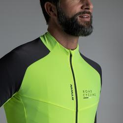 Heren fietsshirt met lange mouwen wielertoerisme 900 fluogeel