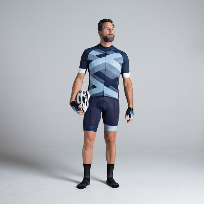 MAILLOT VELO ROUTE MANCHES COURTES HOMME ROADCYCLING 900  XRED NAVY - 1319812