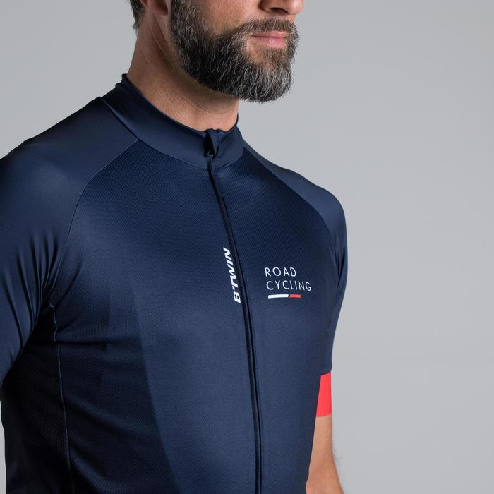 MAILLOT VELO ROUTE MANCHES COURTES HOMME ROADCYCLING 900  XRED NAVY - 1319822