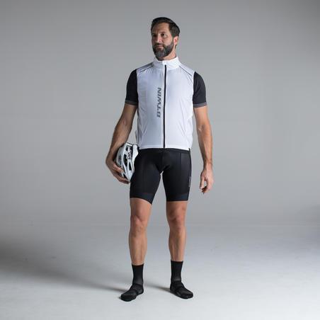 """Itin lengvi vėjui nelaidūs plento dviratininko marškinėliai be rankovių, """"500"""""""