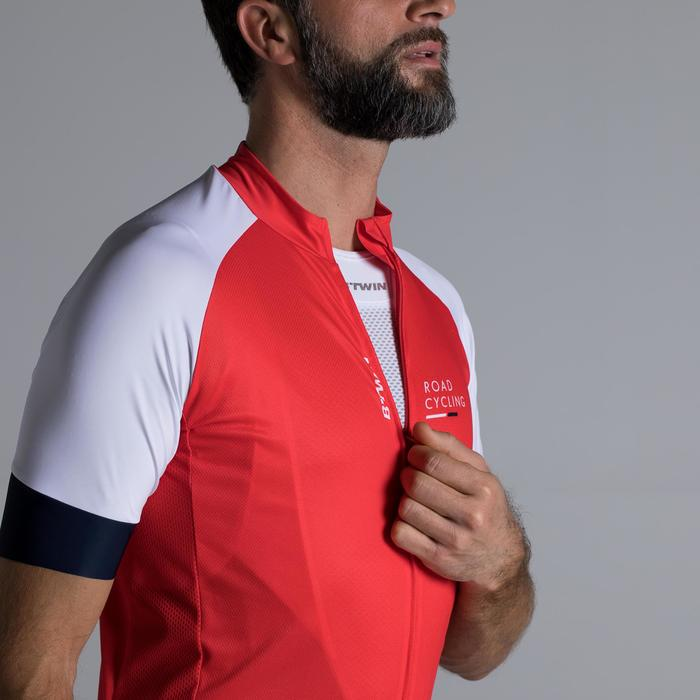 MAILLOT VELO ROUTE MANCHES COURTES HOMME ROADCYCLING 900  XRED NAVY - 1319827