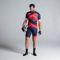 CUISSARD VÉLO HOMME 900 MARINE ROUGE