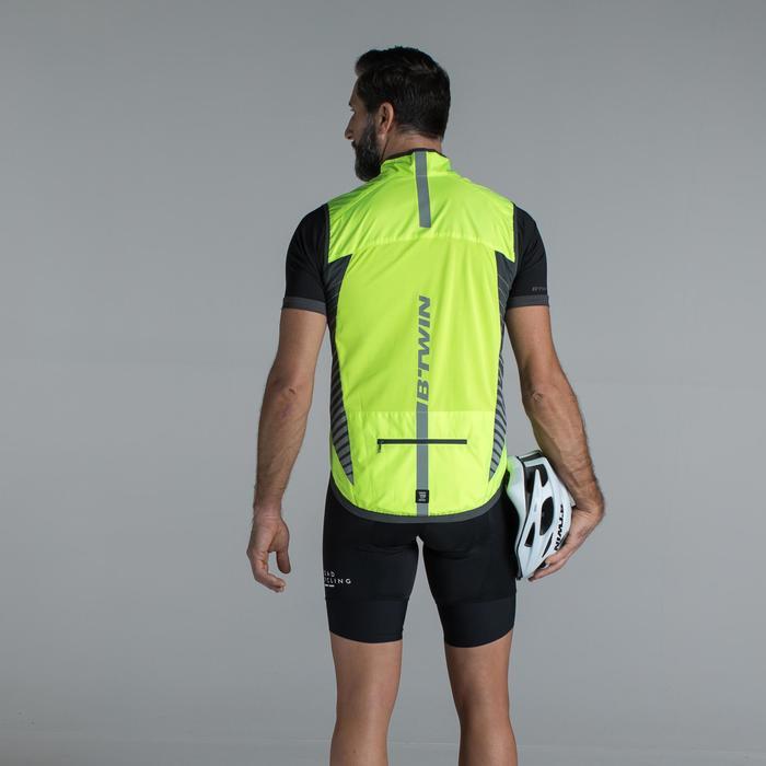 Mouwloos fietsjasje voor heren RC500 geel