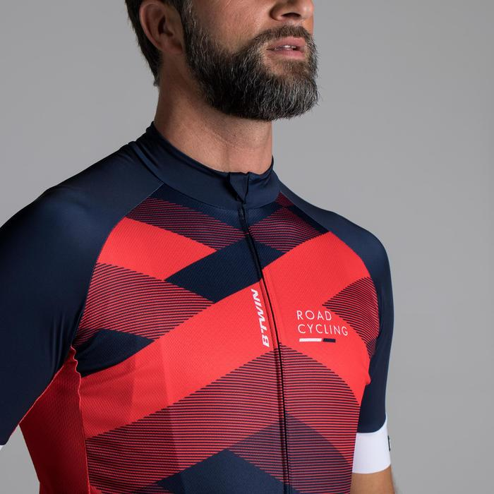 MAILLOT VELO ROUTE MANCHES COURTES HOMME ROADCYCLING 900  XRED NAVY - 1319847
