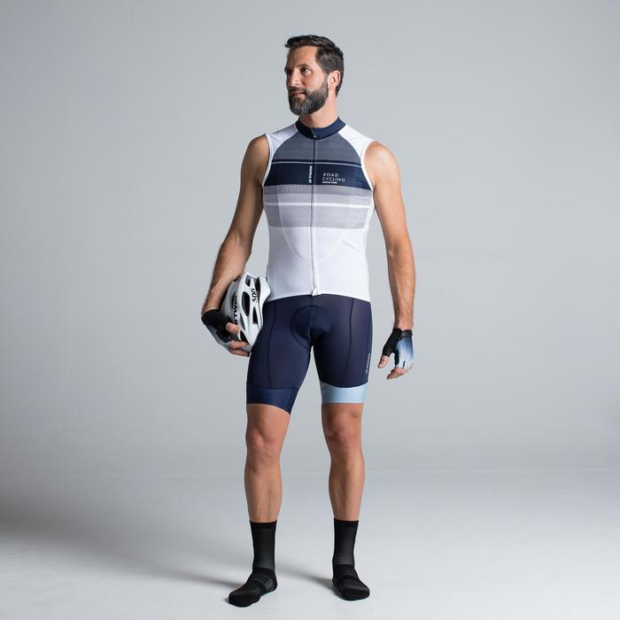 MAILLOT VELO SANS MANCHES HOMME ROADC 900 BLANC NAVY