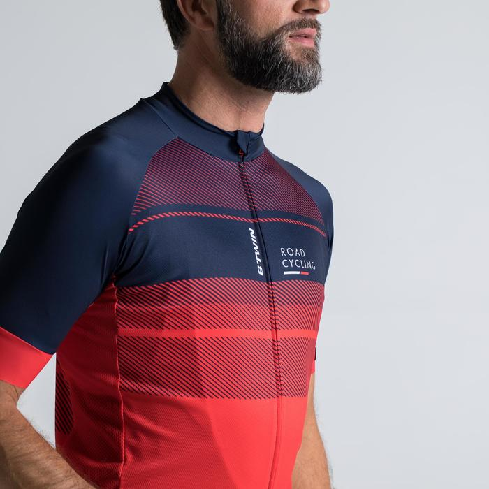 MAILLOT VELO ROUTE MANCHES COURTES HOMME ROADCYCLING 900  XRED NAVY - 1319857