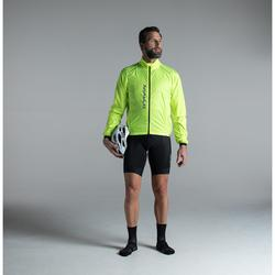 Fahrrad-Windjacke Langarm Rennrad Ultralight Herren neongelb