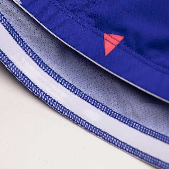 Fietsshirt 500 met korte mouwen voor dames Glitter blauw