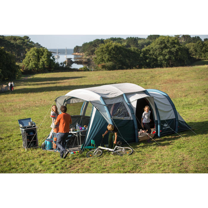 Tente de camping gonflable AIR SECONDS 6.3 FRESH&BLACK | 6 Personnes 3 Chambres
