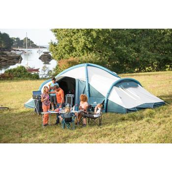 Vouwstoel voor de camping blauw