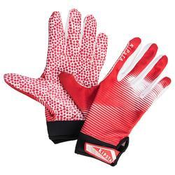 Handschuhe American Football 550 für Receiver Erwachsene rot/weiß