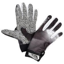 Handschoenen American football voor receiver volwassenen AF 550 zwart wit