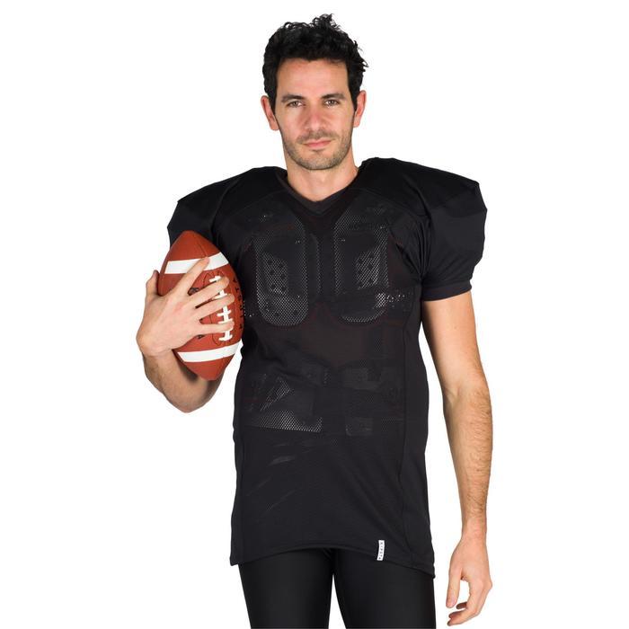 Camiseta Fútbol Americano Kipsta AF 550 Adultos Negro