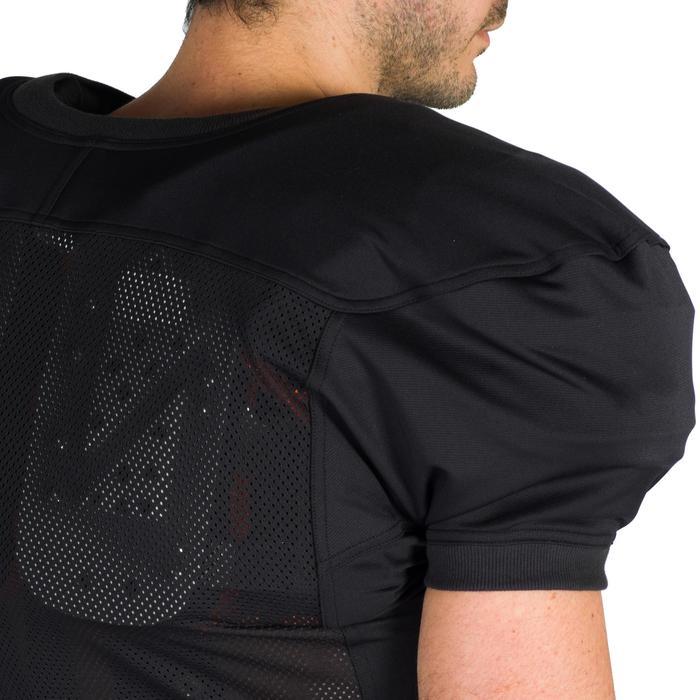 Shirt American football volwassenen AF 550 zwart