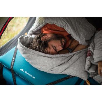 Schlafsack Baumwolle Camping Arpenaz 0°C grün