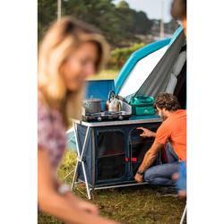 Opvouwbaar en comfortabel opbergmeubel voor de camping