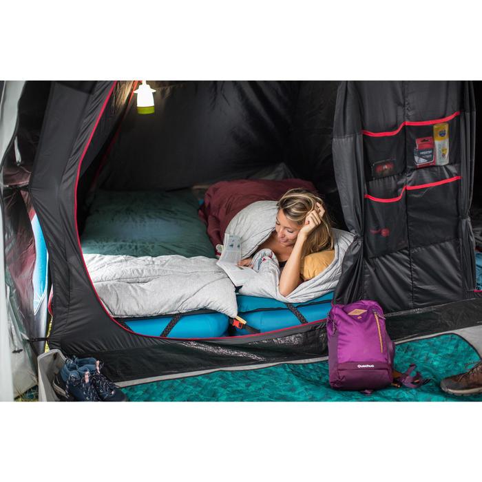 Schlafsack Arpenaz 0°C Baumwolle Camping grün