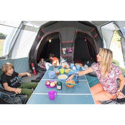 Grote vouwtafel voor de camping voor 6 tot 8 personen