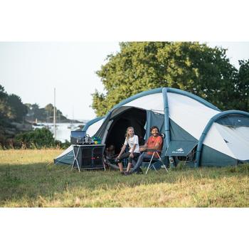 Campingstuhl Komfort klappbar blau