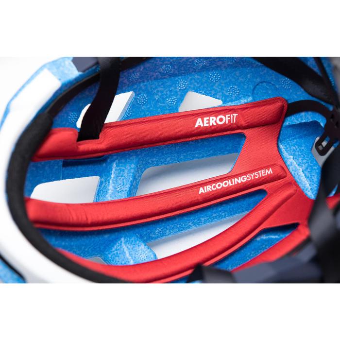 Fietshelm Aerofit 900 blauw wit Team U19
