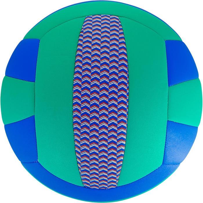 Volleyball V100 Kunstleder blau/grün