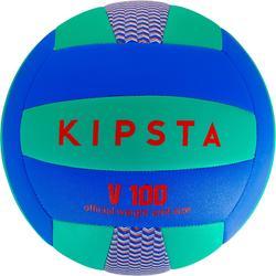 volleybal V100 blauw/groen
