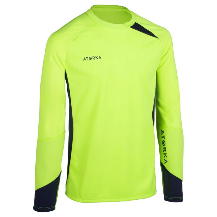 Keepersshirt handbal H500 geel / zwart