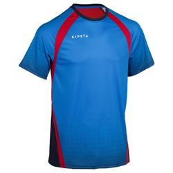 Volleybalshirt V500 voor heren blauw/rood