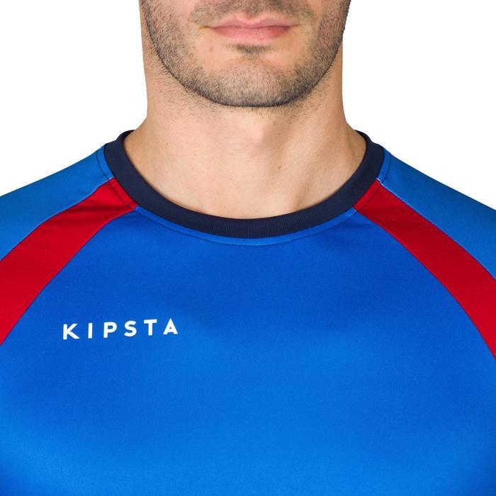 Camiseta de voleibol V500 hombre azul y rojo