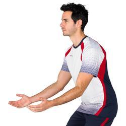 Camiseta de voleibol V500 para hombre gris y roja
