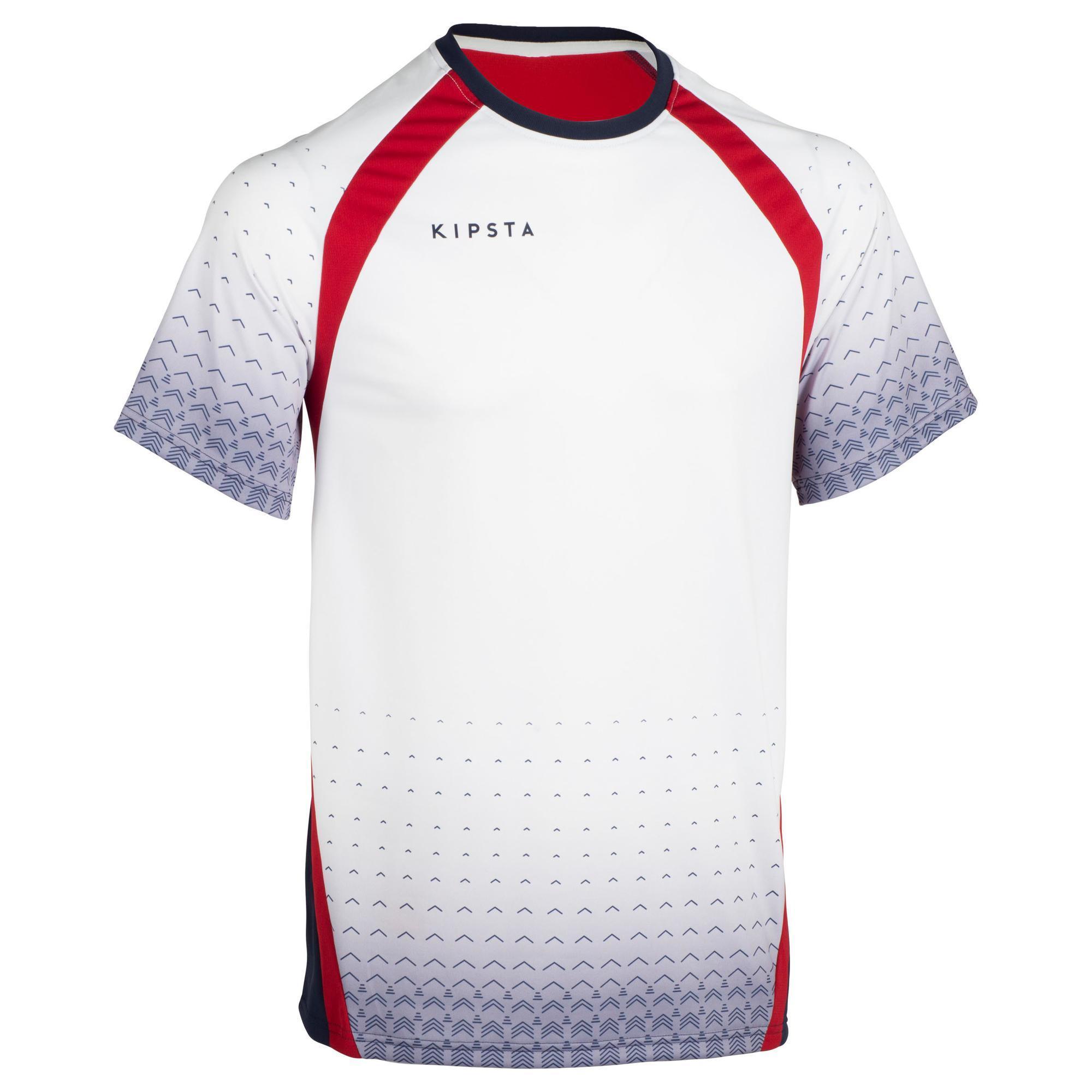 Allsix Volleybalshirt V500 voor heren grijs/rood