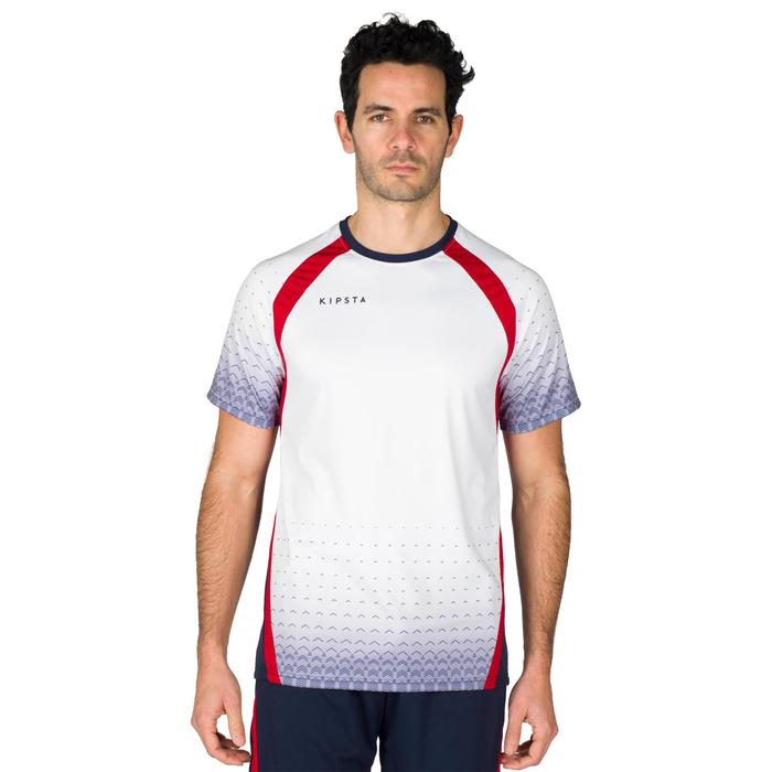 Volleyballtrikot V500 Herren grau/rot