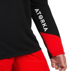 Sudadera de Portero de Balonmano Atorka H500 Adulto Negro Rojo