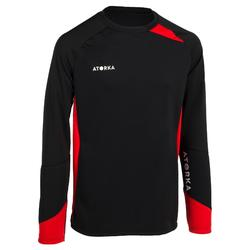 Handbal keepersshirt voor volwassenen H500 zwart / rood