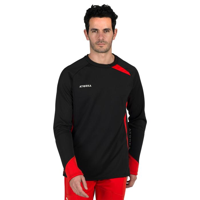 Sweat gardien de handball adulte H500 noir / rouge