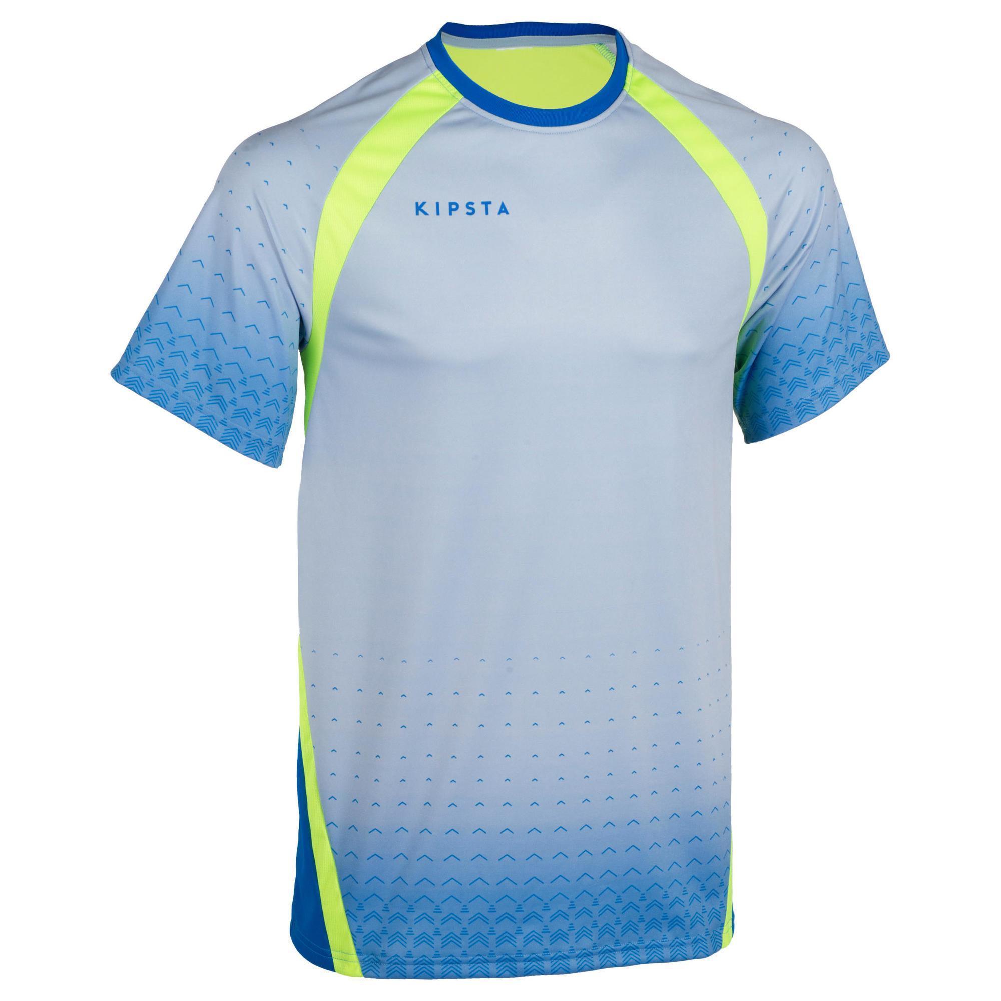 Kipsta Volleybalshirt V500 voor heren blauw/geel