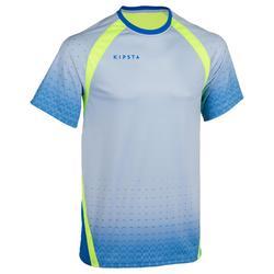 Volleybalshirt V500 voor heren blauw/geel